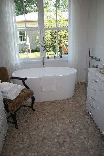 bathroom with pebble tiles island pebble bathroom floor modern bathroom 17201
