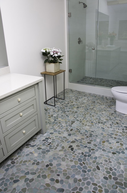 island stone perfect pebble floor modern bathroom other by island stone