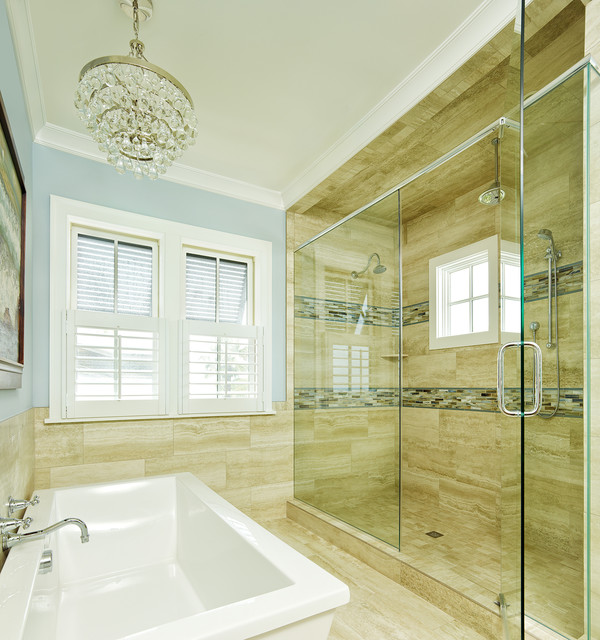 Inspiration for a tropical freestanding bathtub remodel in Charleston