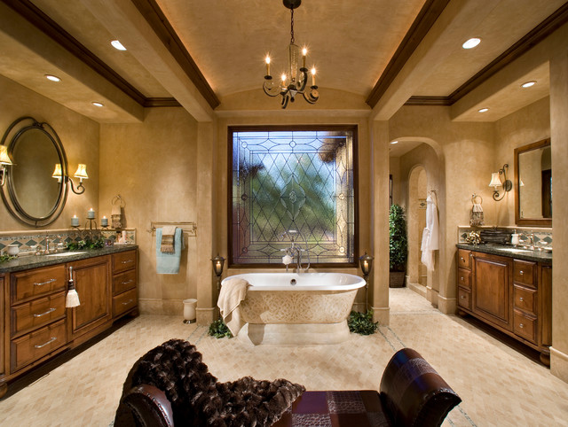 Italian Farmhouse Mediterranean Bathroom Phoenix