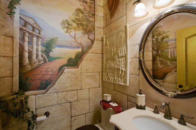 Mediterranean bathroom in Portland.