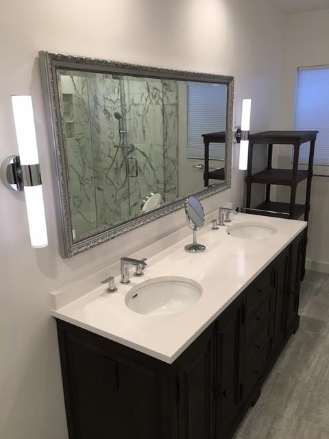Italian marble bathroom contemporary bathroom orange for Bathroom designs in italian marble