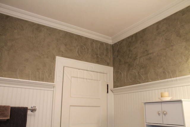 Italian wall finishes traditional bathroom milwaukee for Bathroom finishes