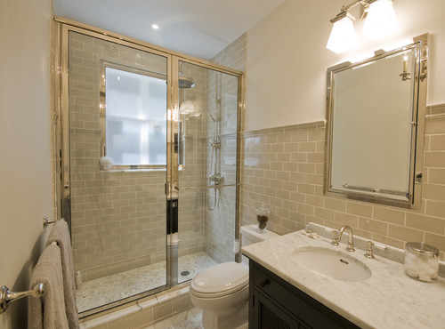 Italianate Townhouse traditional bathroom