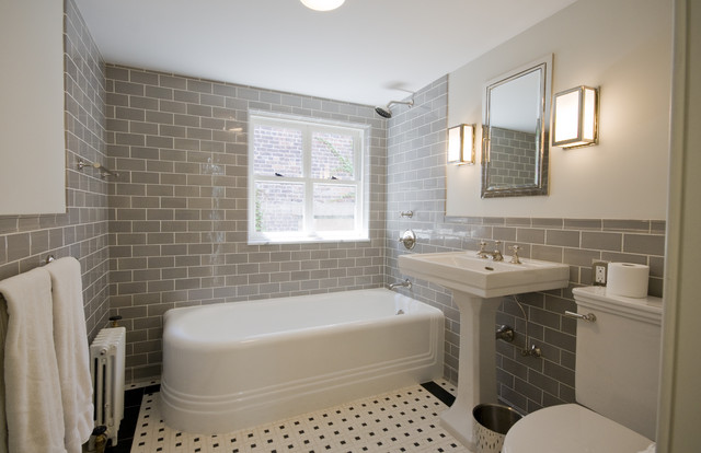 Italianate Townhouse traditional-bathroom