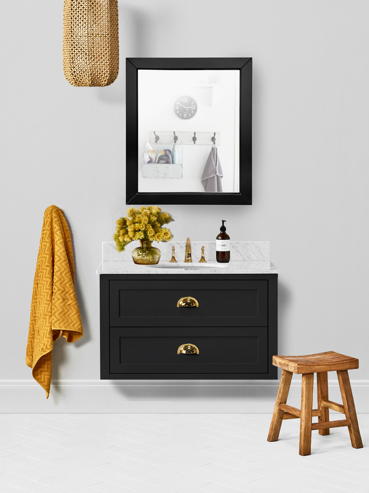Ivory 36-inch Bathroom Vanity in Black - Contemporary ...