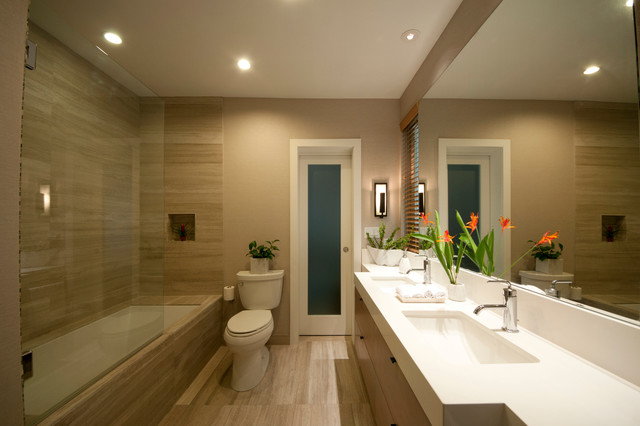Jack and jill bath contemporary bathroom hawaii by - Jack and jill bath ...