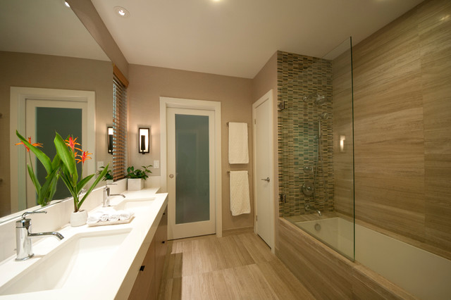 Jack and jill bath contemporary bathroom other metro - Jack and jill style bathroom ...