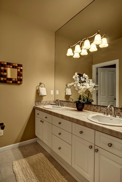 Jack and jill sink contemporary bathroom seattle - Jack and jill sinks ...