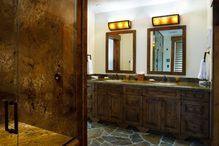 Rustic Bathroom Mirrors on Jackson Hole Golf   Tennis   Rustic   Bathroom   Denver   By Teton