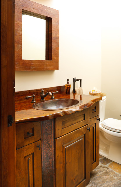 Jackson Hole Golf & Tennis rustic-bathroom