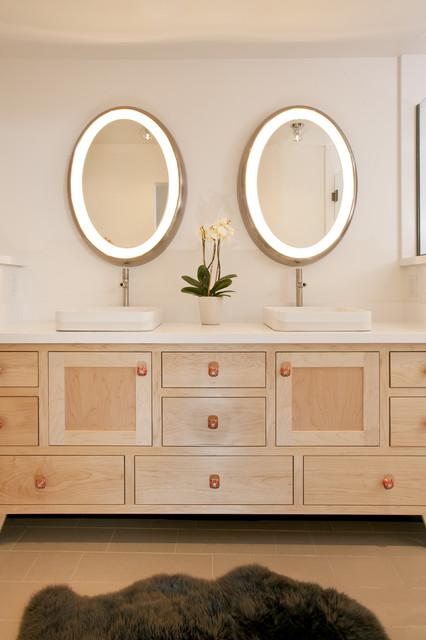 Jackson Hole Modern Log Cabin - Grace Home Design contemporary-bathroom