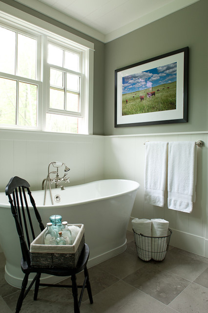 Farmhouse Bathroom by jamesthomas, LLC