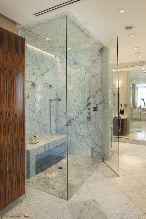 Can you use onyx, marble or granite in a steam shower ...