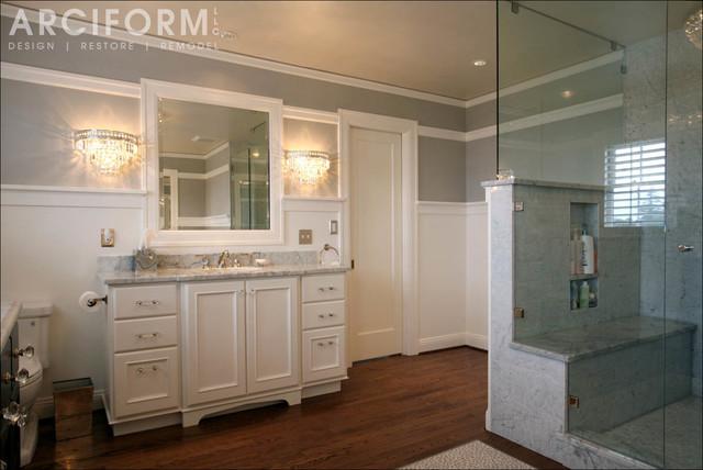 Jan david 39 s elegant colonial revival traditional for Colonial bathroom ideas