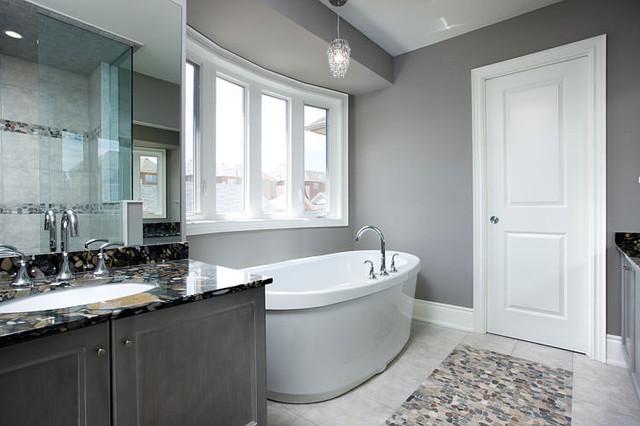 Jane Lockhart Interior Design Gray Bathroom