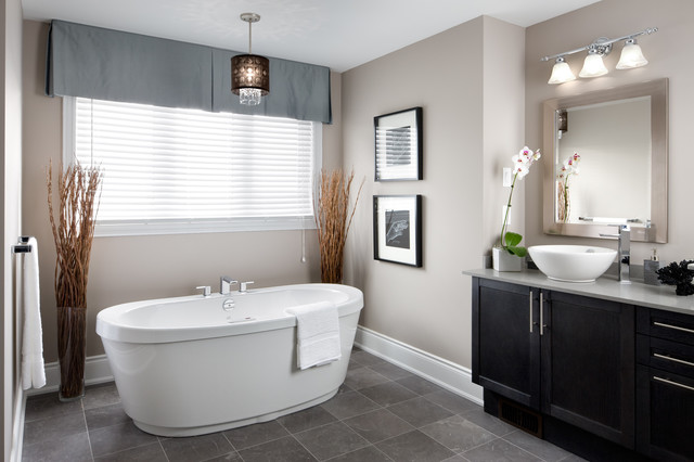 transitional bathroom toronto by jane lockhart interior design