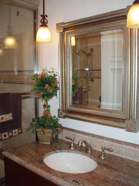 Janzel Kelly Interiors mediterranean-bathroom