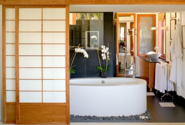 Japanese Master Bathroom asian-bathroom