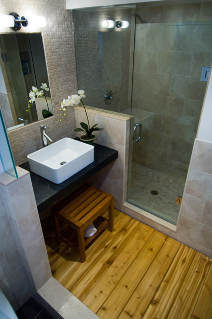 Japanese modern for Asian small bathroom design