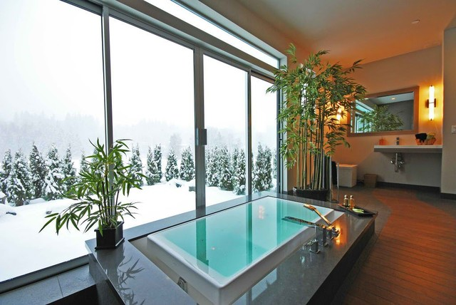 Japanese Onsen - Contemporary - Bathroom - seattle - by