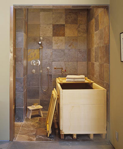 Japanese Soaking Tub Off Master Bedroom Modern