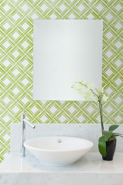 Japanese wall stencils asian bathroom san diego by for Bathroom stencils designs