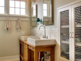 contemporary bathroom 15 Ways to Enhance Your Cabinets With Grilles (23 photos)