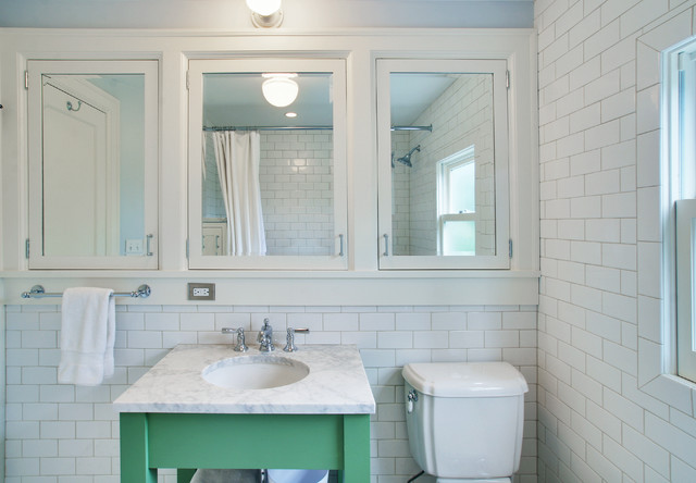 Design Ideas For A Traditional Bathroom In Seattle With Submerged Sink