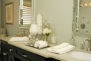 that said here is a beautiful bathroom without a backsplash - No Backsplash In Kitchen