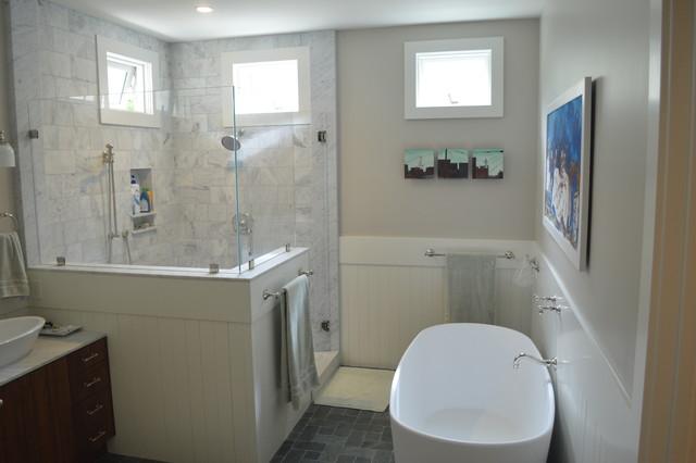 Jensen-Gillies Residence transitional-bathroom