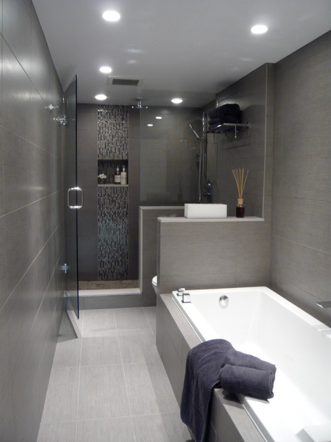 Jervis street modern condo renovation contemporary for Condo bathroom designs
