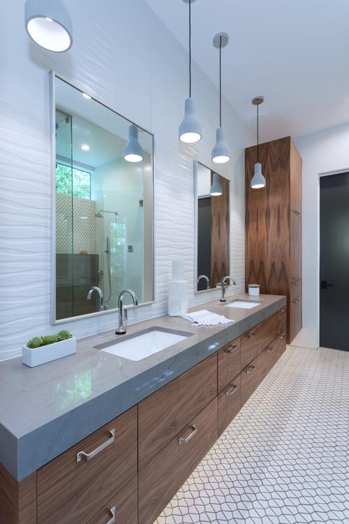 Heated flooring in bathroom remodel in Aurora IL