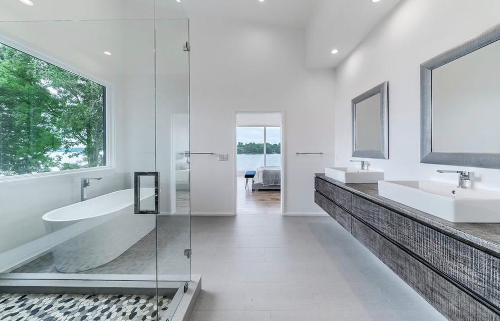 Jewels On Lake Norman Modern Bathroom Charlotte By Cr Interior Design