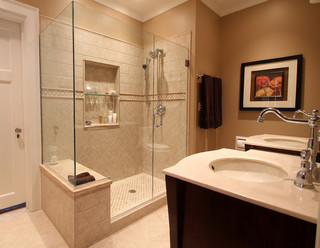 Jim grote traditional bathroom milwaukee by cream for Master bathrooms without bathtubs