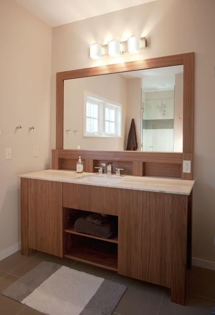 Joanne's Owls Head contemporary-bathroom