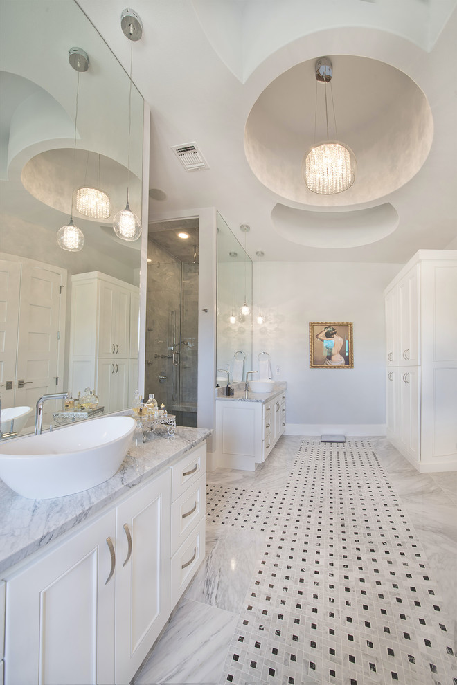 Inspiration for a transitional bathroom remodel in Austin