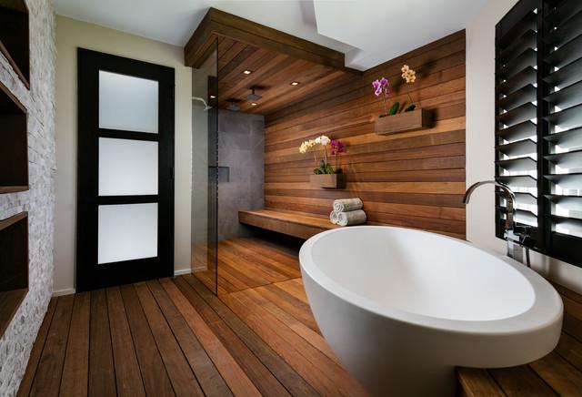 Jupiter Island Spa Inspired Contemporary Bathroom