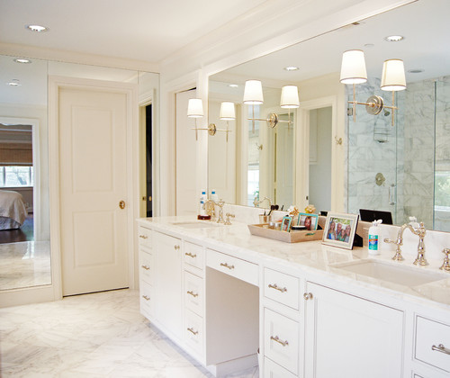 Proportion For Mirror Sizes Lighting Vs Vanity Size - Master bathroom sconces