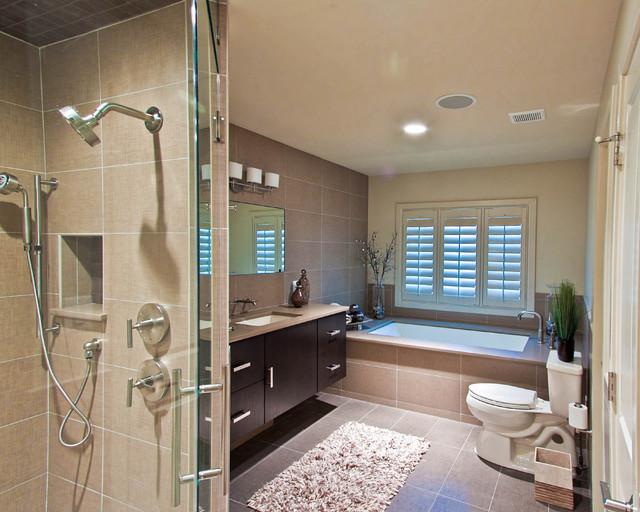 Karen Kalicka / MAX Interiors contemporary-bathroom