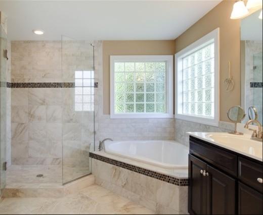 Kargo Porcelain Bathroom Remodel Modern Tile