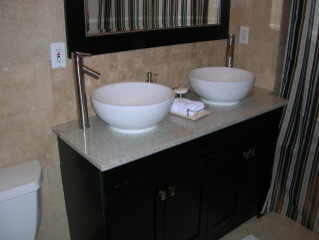 Kasmire White Double Vanity contemporary-bathroom