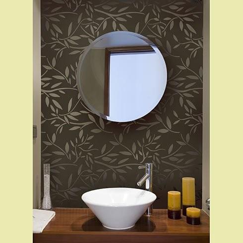 Kathy peterson stencil line vines stencil contemporary for Bathroom stencils designs