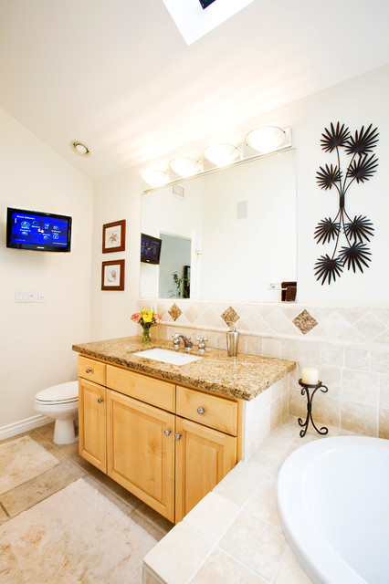 Kb project beach style bathroom los angeles by for Home automation shower