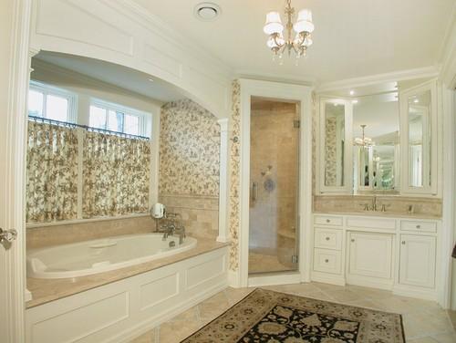 Beautiful is the shower surround trim made of wood or a for Bathroom design portfolio