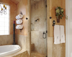 Keller Tx bathroom remodel project mediterranean-bathroom