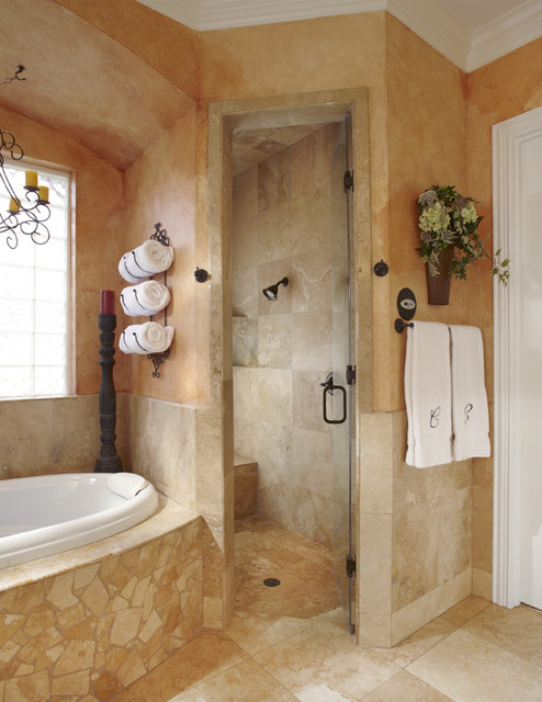 Keller Tx Bathroom Remodel Project Mediterranean Bathroom Other Metro By Usi Design