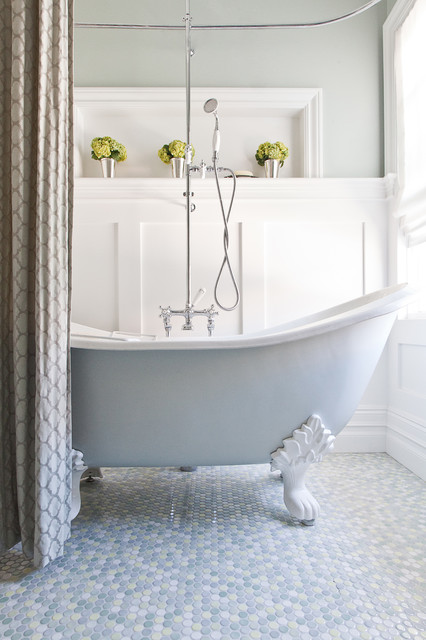 Unique Traditional Bathroom by Kelly Scanlon Interior Design