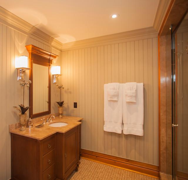 Kenesis lake cottage traditional bathroom toronto for Lake cottage bathroom ideas