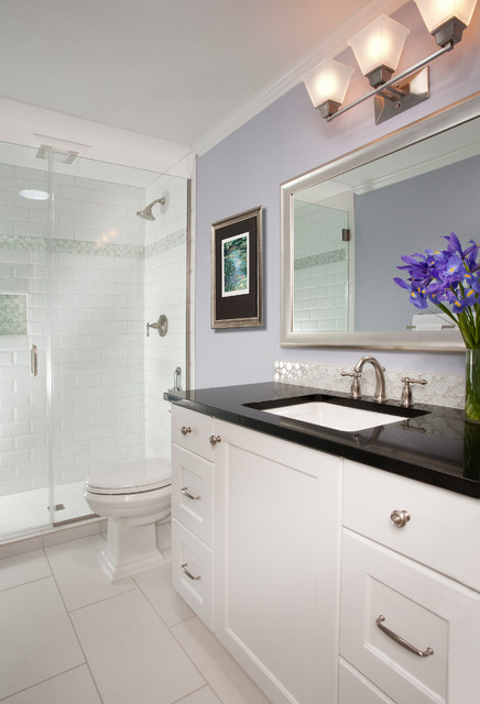 Kenmore small bath - Traditional - Bathroom - Seattle - by Riddle Construction and Design